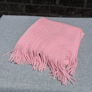 Echo Soft Pink Perforated Scarf
